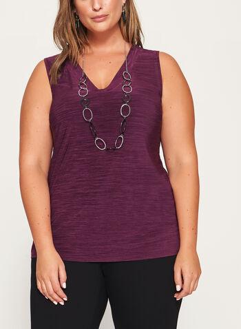 Heather Print Jersey Top , , hi-res