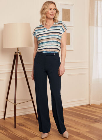 Modern Fit Straight Leg Pants, Blue,  pants, straight leg, modern fit, made in Canada, pleat, pleated, comfort, stretch, work, professional, spring summer 2021
