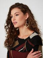 Haut en tricot à motif géométrique, Noir