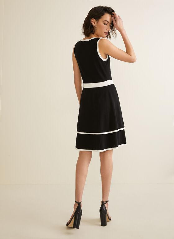 Nina Leonard - Robe bicolore sans manches, Noir