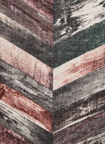 Foulard à rayures diagonales, Rouge,  foulard, oblong, rayures, automne hiver 2019