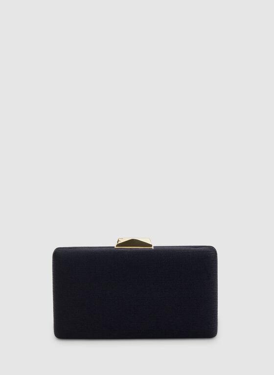 Textured Rectangular Clutch, Blue