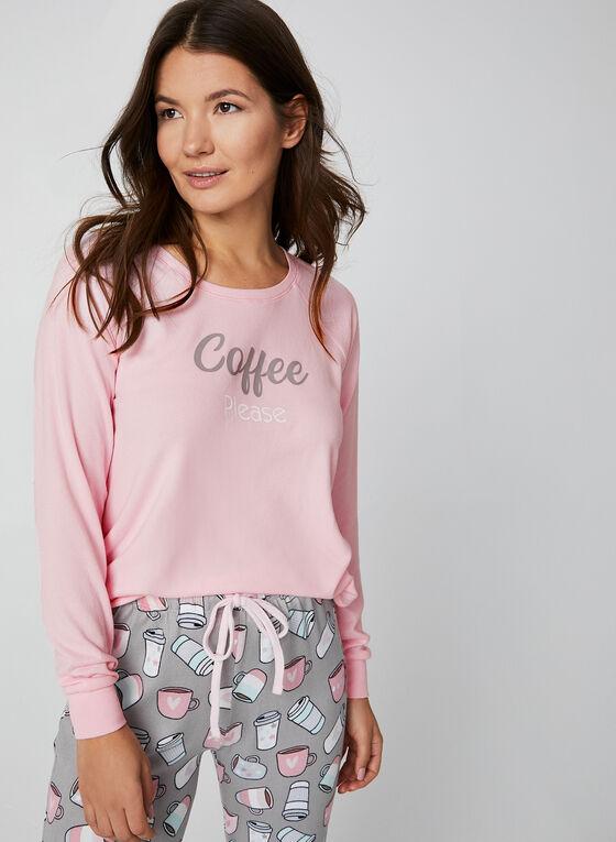 René Rofé - Pyjama 2 pièces à motif café, Rose