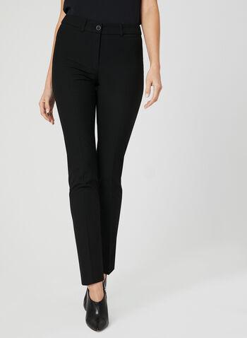 City Fit Straight Leg Pants, Black, hi-res