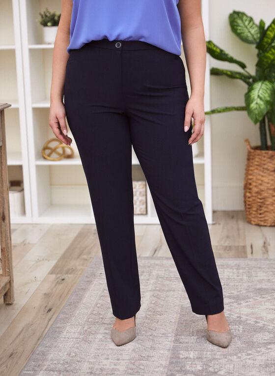 Signature Fit Straight Leg Pants , Blue