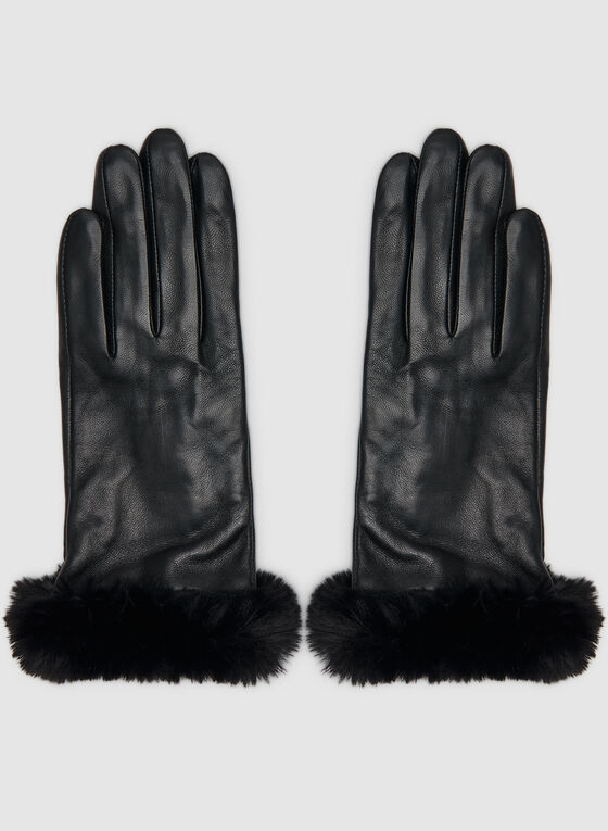Sheep Leather Gloves, Black