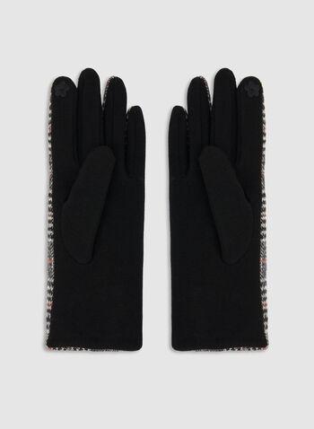 Gants motif Prince-de-Galles, Noir, hi-res,  gants, prince-de-galles, boutons, automne hiver 2019