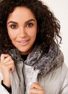 Novelti - Faux Fur Trim Coat , Silver, hi-res
