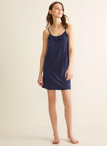 Comfort & Co. - Chemise de nuit à volants, Bleu,  printemps été 2020, pyjama, ensemble, Comfort & Co.