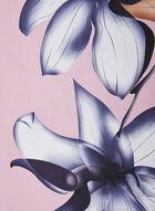 Foulard oblong léger à fleurs, Violet