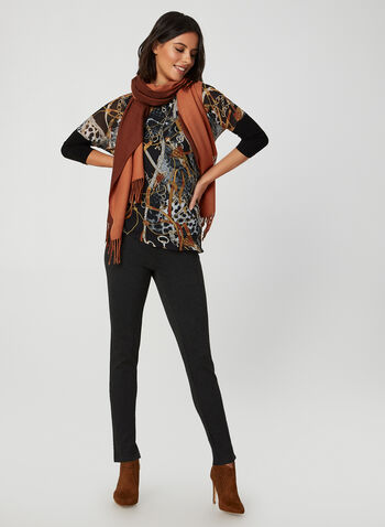 Dolman Sleeve Chiffon Top, Black, hi-res,  fall winter 2019, chiffon, jersey, asymmetric, dolman sleeves, 3/4 sleeves