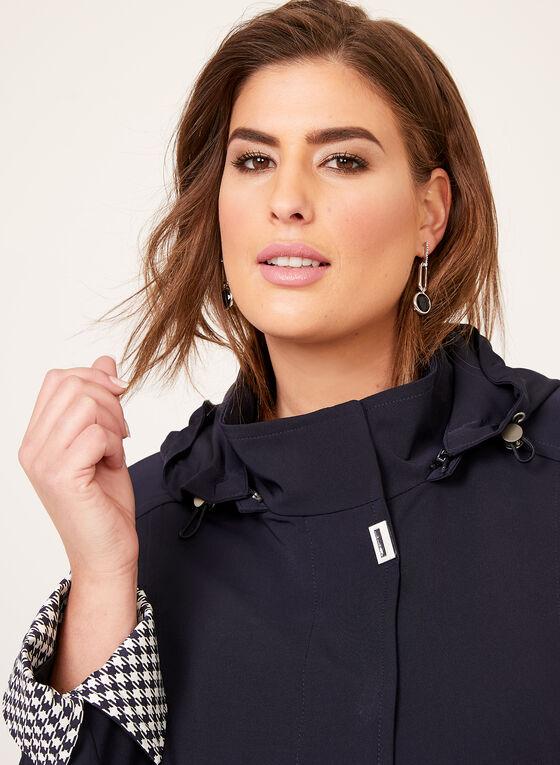 Hooded A-Line Raincoat, Blue, hi-res