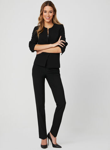 Modern Fit Straight Leg Pants, Black,