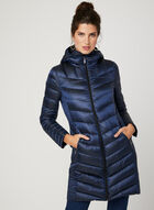BCBGeneration - Hooded Packable Down Coat, Blue, hi-res
