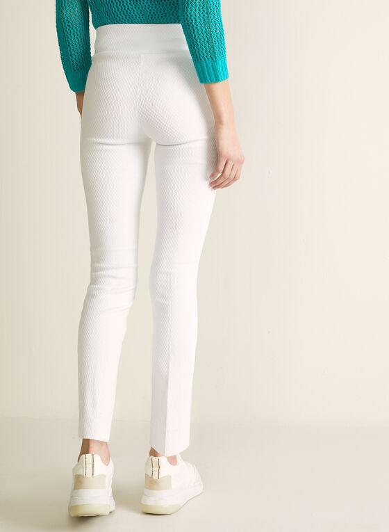 Meg & Margot - Slim Leg Pull-On Pants, White