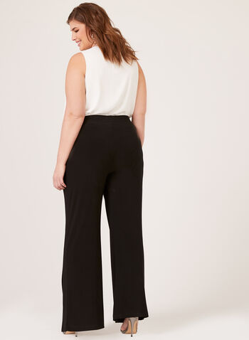 Frank Lyman - Wide Leg Pull-On Pants, Black, hi-res