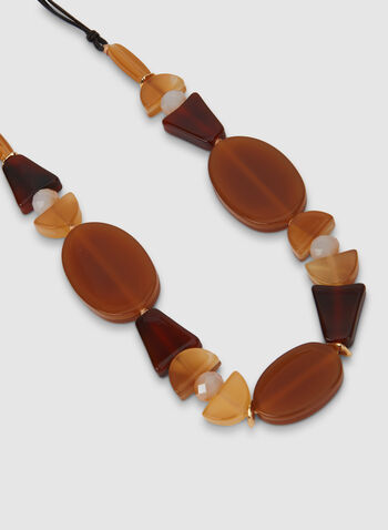 Long Bead Necklace, Brown,  cord, necklace, long necklace, beads, fall 2019, winter 2019