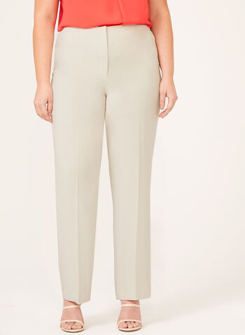 Louben - Signature Fit Straight Leg Dress Pants, Off White, hi-res