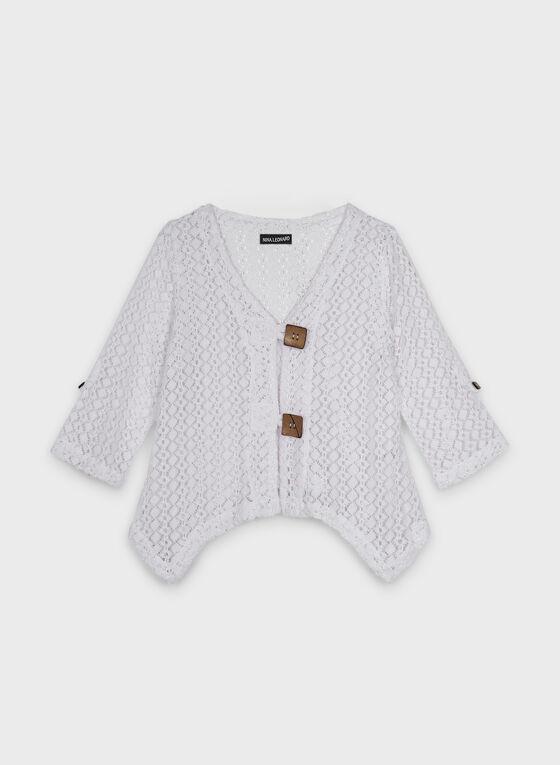 Nina Leonard - Boléro en crochet, Blanc, hi-res