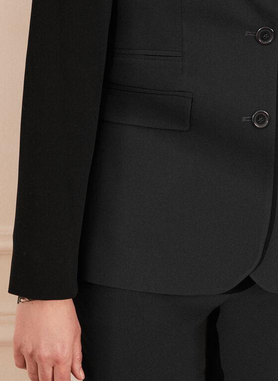 Louben - Veste à deux boutons et col cranté, Noir