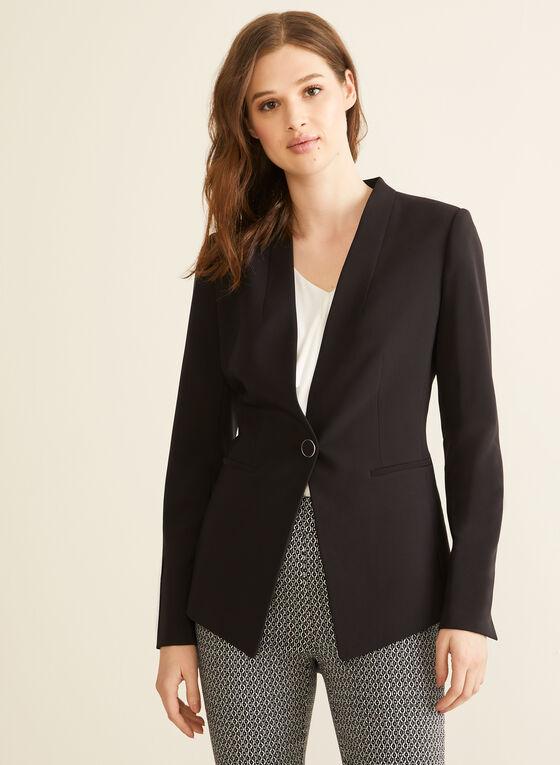 Single-Button Jacket, Black