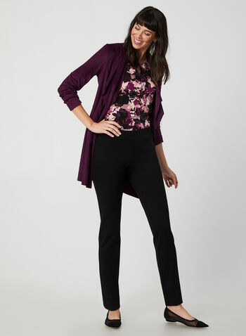 Floral Print Top, Purple,  Canada, top, floral print, jersey, fall 2019, winter 2019