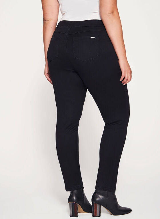 Pull-On Slim Leg Jeans, Black, hi-res