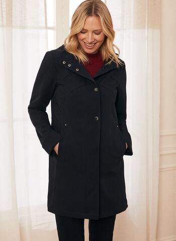 Long Sleeve Hooded Raincoat , Blue,  Spring 2020, rain coat, waterproof, removable hoodie, pockets