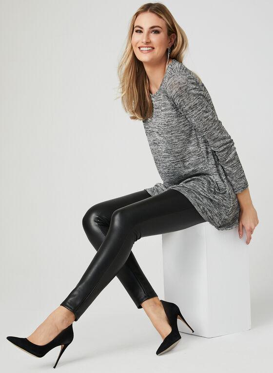 ¾ Sleeve Asymmetric Tunic , Grey, hi-res