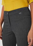 Pantalon coupe moderne à jambe droite, Gris