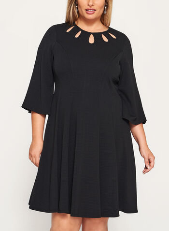 Teardrop Detail Fit & Flare Dress, , hi-res