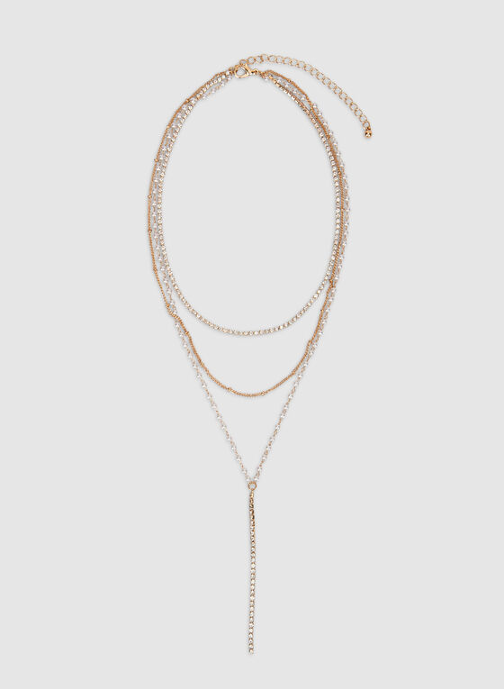 Multi-Layer Necklace, Off White