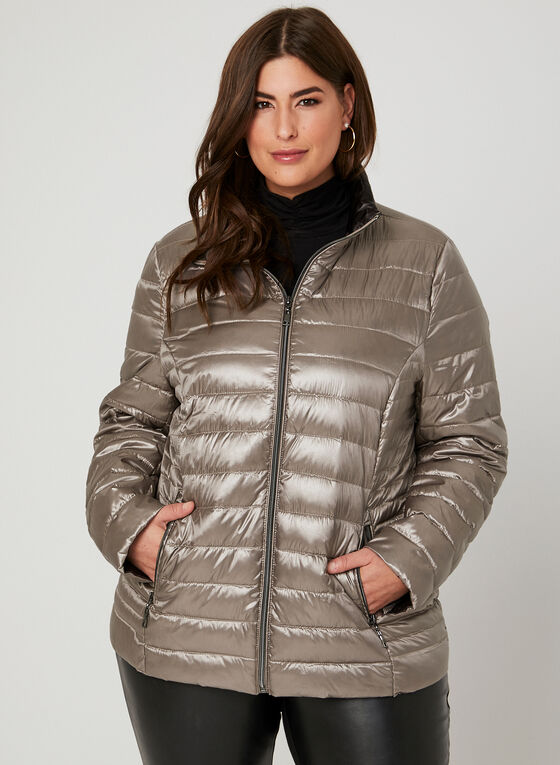 Nuage - Packable Down Coat , Off White, hi-res