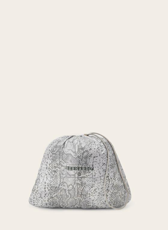 Bernardo - Manteau compressible à imprimé serpent, Blanc