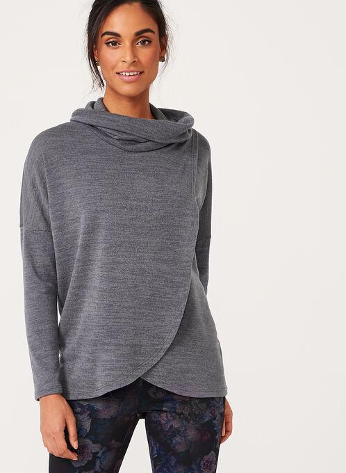 Faux Wrap Cowl Neck Sweater | Laura