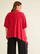 Joseph Ribkoff - Cowl Neck Ruffle Detail Top, Pink