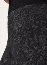 Pantalon pull-on à jambes étroites et motif floral, Gris, hi-res