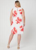 Floral Print Chiffon Dress, Off White, hi-res