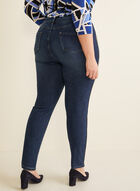 Mid-Rise Slim Leg Jeans, Blue