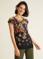 Tropical Print Short Sleeve Top, Multi