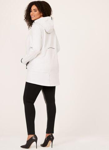 Novelti - Manteau imperméable à motif pointillé et capuchon, Blanc cassé, hi-res
