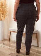 Checkered Print Pants, Grey