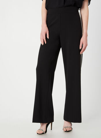 Modern Fit Wide Leg Pants, Black, hi-res,  fall winter 2019, wide leg, bead details, pull-on