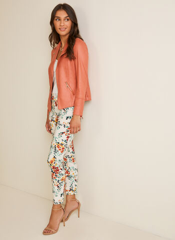City Fit Floral Print Pants, Multi,  pants, city fit, slim leg, floral, bengaline, pleats, spring summer 2020