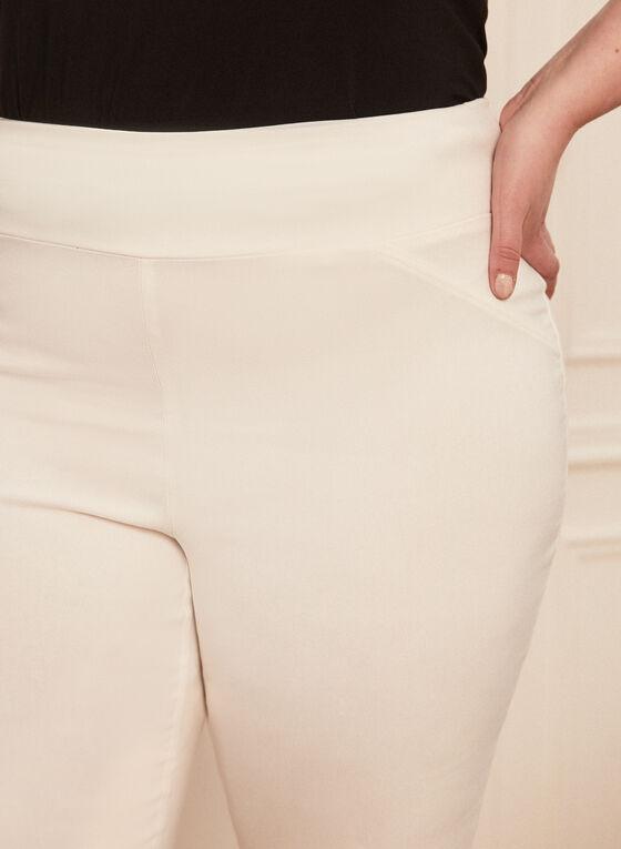 Capri pull-on à jambe étroite, Blanc cassé