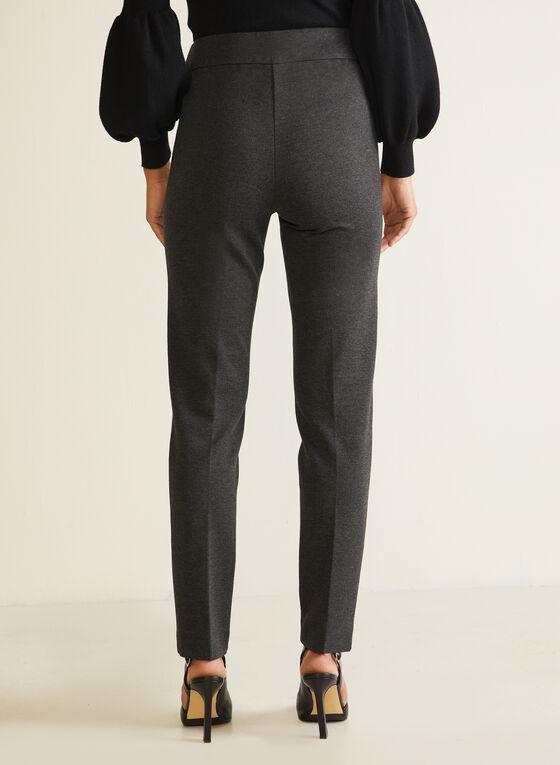 Slim Leg Pull-On Pants, Grey
