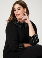 Marilyn Neck Knit Sweater, Black, hi-res