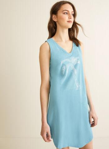Comfort & Co. - Chemise de nuit à col V, Bleu,  printemps été 2020, chemise de nuit, pyjama, Comfort & Co