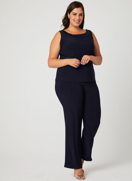 Sequin Lace 3-Piece Pantsuit, Blue, hi-res
