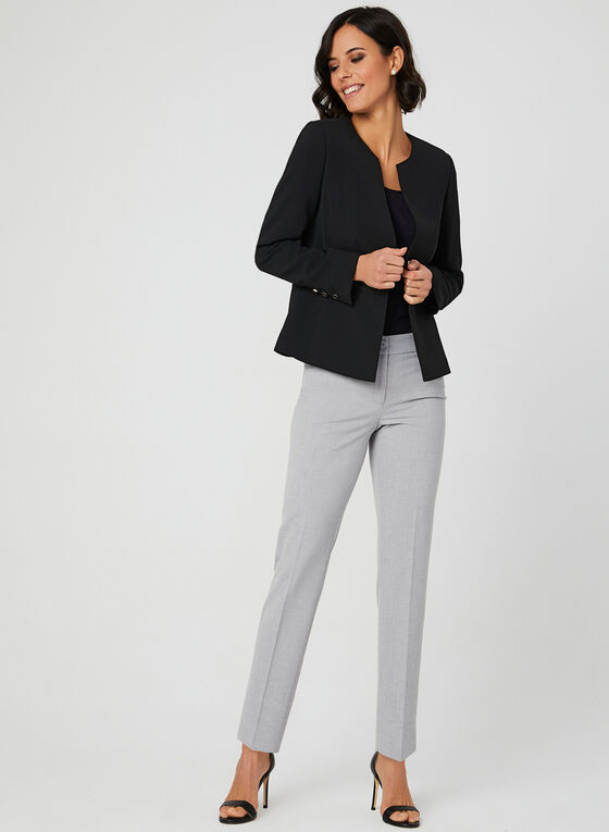 City Fit Straight Leg Pants, Grey